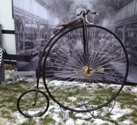 A real penny farthing